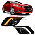 MAZDA 3 AXELA 2014 - 2016 2in1 Fog Lamp Cover LED Daytime Running Light with Turn Signal