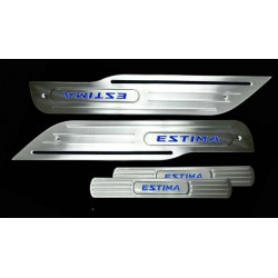 TOYOTA ESTIMA ACR50 2006~2013 Stainless Steel LED Door Side Sill Step Plate Made In Taiwan