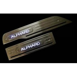TOYOTA ALPHARD ANH20 2008 - 2015 Stainless Steel LED Door Side Sill Step Plate Made In Taiwan