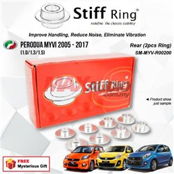 PERODUA MYVI (1.0/1.3/1.5) 2005 - 2017 STIFF RING T6 Aluminium Rigid Collar Anti Vibration Subframe Chassis Stability Tuning Kit