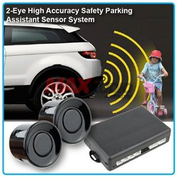 ZIIIRO 2-Eye High Accuracy Safety Reverse Parking Assistant Sensor System with Buzzer Siren Sound (Black)