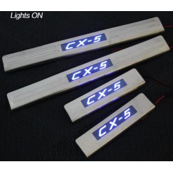 MAZDA CX5/ CX-5 Stainless Steel LED Door Side Sill Step Plate Made In Taiwan