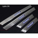 VOLKSWAGEN PASSAT TDI, SE, CC 2012 - 2015 Stainless Steel LED Door Side Sill Step Plate Made In Taiwan