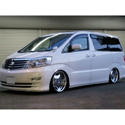 TOYOTA ALPHARD MNH10 2003 ~ 2007 ORIGINAL Japan Design Injection High Quality Anti UV Light Door Door Visor/ Air Press