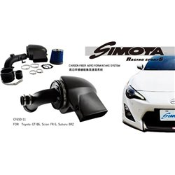 TOYOTA GT86 2.0, SUBARU BRZ, SCION FR-S SIMOTA AERO FORM II Carbon Fiber Air Filter Intake System with Full Piping [CF650-11]