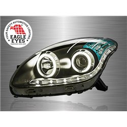 PERODUA MYVI 2005 - 2010 EAGLE EYES CCFL LED Ring Starline Daytime Running Light Projector Head Lamp (Pair) [HL-101-2]