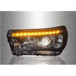 TOYOTA HILUX REVO 2015 - 2018 Original Style LED Daytime Running Light Projector Head Lamp with Sequential Signal [HL-235-SQ]