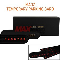 MAOZ Temporary Parking Card Tube