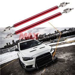 Universal Adjustable 10cm/15cm/20cm Front Bumper Lip Splitter Diffuser Support Strut Rod Tie Bars (Pair)