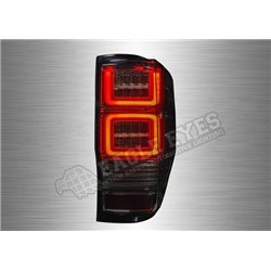 FORD RANGER T6/T7 2011 - 2019 Full Smoke Lens LED Light Bar Tail Lamp with Sequantial Signal (Pair) [TL-310-SQ]