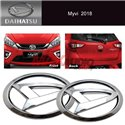 PERODUA AXIA BEZZA MYVI ALZA Front and Rear Daihatsu Chrome 3D ABS Genuine Logo Badge Emblem (2pcs)