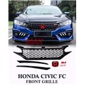 HONDA CIVIC FC 2016 - 2019 SI Style Mesh Front Griller (with Logo H and SI Logo)