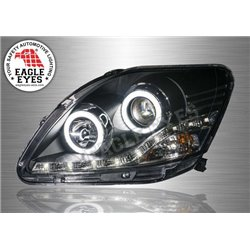TOYOTA VIOS 2007 - 2012 EAGLE EYES Extreme LED Light Ring Starline DRL Projector Head Lamp (Pair) [HL-123-2]