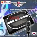 """SKY NAVI 6""""x9"""" 200W Max Ultra-thin Built-in Amplifier Underseat Mini Active Subwoofer with Wired Remote Control Made In Korea"""