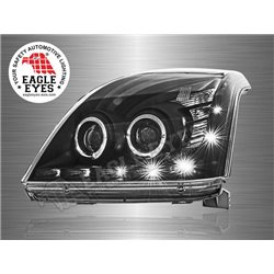 TOYOTA LAND CRUISER PRADO FJ120 2002 - 2008 EAGLE EYES Starline CCFE LED Light Ring Double Projector Head Lamp (Pair) [HL-122]