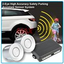 Universal 2-Eye High Accuracy Safety Reverse Parking Assistant Sensor System with Buzzer Siren Sound (Silver)
