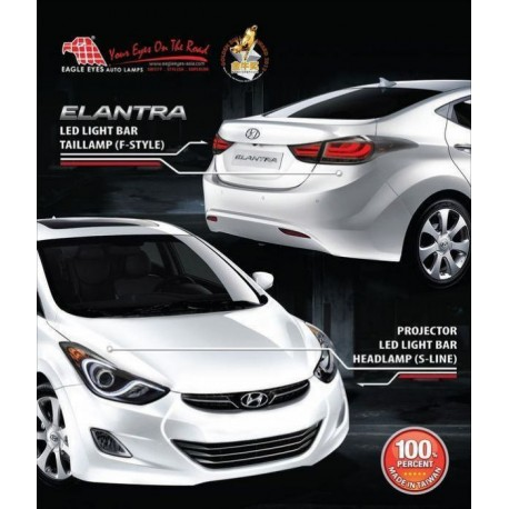 [HYUNDAI ELANTRA] EAGLE EYES Projector Head Lamp + Smoke LED Tail Lamp