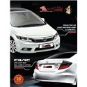 HONDA CIVIC FB 2012 - 2015: EAGLE EYES L-Concept Daylight Projector Head Lamp [HL-145-1] +  F-Style LCI LED [TL-201]