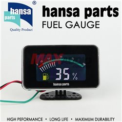 HANSA PARTS Universal LCD Display Fuel Gauge Meter Fit For Most 12V Vehicle