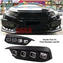 HONDA CIVIC FC 2016-2019 Bugatti Style Daytime Running Lamp Drl With Sequential Signal Light (Pair)