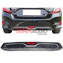 Honda Civic FC Rear Bumper lower garnish Carbon-Look Texture Chrome Rear Bumper Diffuser