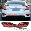 HONDA CIVIC FC 2016-2019 V3 Arrow Style Rear Bumper Reflector LED Light With Sequential Signal Light (Pair)