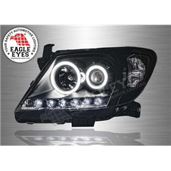 TOYOTA HILUX VIGO 2004 - 2010 EAGLE EYES Extreme LED Ring Starline Daytime Running Light Projector Head Lamp [HL-069-3]