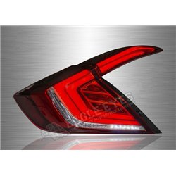 HONDA CIVIC FC 2016 - 2019 Red Clear Lens V2-Style LED Light Bar Tail Lamp with Sequential Signal (Pair) [TL-292-V2-2]