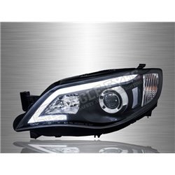 SUBARU IMPREZA WRX 2007 - 2014 LED Light Bar DRL Projector Head Lamp (Pair) [HL-185]