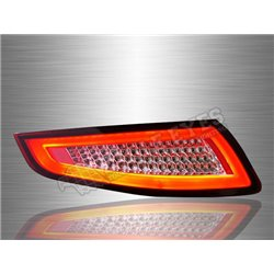 PORSCHE 911 2005 - 2008 Red Clear Lens LED Light Bar Tail Lamp (Pair) [TL-289]