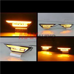 HONDA CIVIC FC 2016 - 2019 LED Light Bar Side Fender Daytime Running Lights DRL with Wording and Turn Signal Light (Pair)
