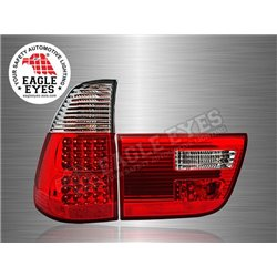 BMW X5 2000 - 2005 EAGLE EYES Red Clear LED Tail Lamp (Pair) [TL-025-BMW]