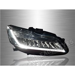 HONDA ACCORD 2013-2019 Clear/ Black Lens  LED Sequential Signal Head Lamp (Pair) [HL-223]