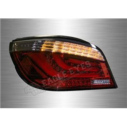 BMW 5 Series E60 2003 - 2009 Red & Smoke Lens 3D LED Light Bar Projector Tail Lamp (Pair) [TL-037-BMW]