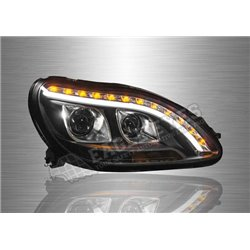 MERCEDES BENZ W220 S-CLASS 1998 - 2005 LED DRL Projector Head Lamp (Pair) [ HL-049-BENZ]