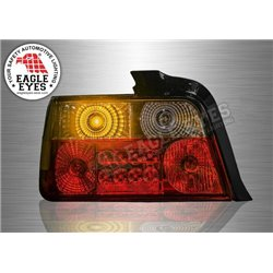 BMW E36 3 Series 4-Door 1990 - 2000 Red/Smoke Lens LED Tail Lamp (Pair) [TL-009-BMW-1]