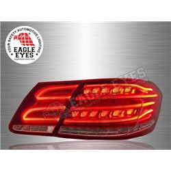 MERCEDES BENZ W212 E-Class 2009 - 2016 EAGLE EYES Red/Clear Lens LED Light Bar Tail Lamp (Pair) [TL-032-BENZ]