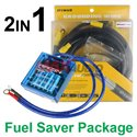 2in1 PIVOT VS-1 Voltage Stabilizer + PIVOT 7 Core 5-Point Grounding Cable Fuel Saver Package