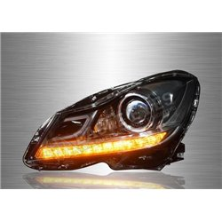 MERCEDES BENZ W204 C-Class 2007 - 2013 LED DRL Projector Head Lamp (Pair) [HL-053-BENZ]