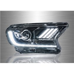 FORD RANGER T7 2011 - 2019 LED DRL Projector Head Lamp with Sequential Signal (Pair) [HL-213]