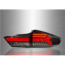 HONDA CITY GM6 2014 - 2019 Audi Style Smoke Lens LED Tail Lamp with Sequential Signal (Pair) [TL-318]