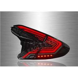 TOYOTA C- HR 2017 - 2019 Black & Smoke Lens LED Tail Lamp with Sequential Signal 17-19 (Pair) [TL-315]