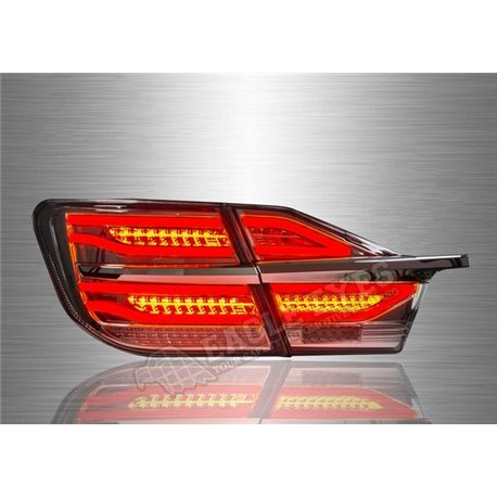 TOYOTA CAMRY XV50 2012 – 2017 Smoke Hybrid Lens LED Light Bar Tail Lamp (Pair) [TL-283-1]