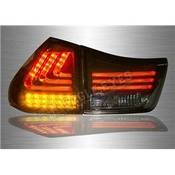 TOYOTA HARRIER XU30 2003 - 2012 Black Lens LED Tail Lamp with Sequential Signal (Pair) [TL-257-1-SQ]