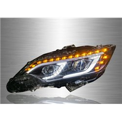 TOYOTA CAMRY XV50 2011 - 2018 LED Light Bar Projector Head Lamp With Sequential Signal (Pair) [HL-221]