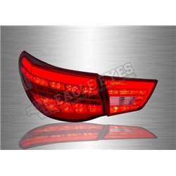 TOYOTA MARK X X130 2009 - 2019 Red / Clear Lens LED Light Bar Tail Lamp (Pair) [TL-235]