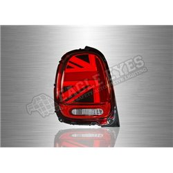 BMW MINI COOPER F56 2013 - 2019 Red / Clear Lens LED Tail Lamp with Sequential Signal (Pair) [TL-320-SQ]