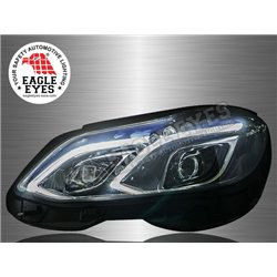 MERCEDES BENZ W212 2013 – 2016 EAGLE EYES  LED Light Bar Projector Head Lamp (Pair) [HL-050-BENZ]