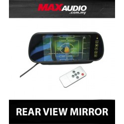 "DLAA 7"" Full HD In-Car Rear View Mirror Monitor for Reverse Camera or DVD Player"