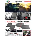 PERODUA AXIA 2014- 2019 NINJA SHADES UV Proof Custom Fit Car Door Window Magnetic Sun Shades (4pcs)